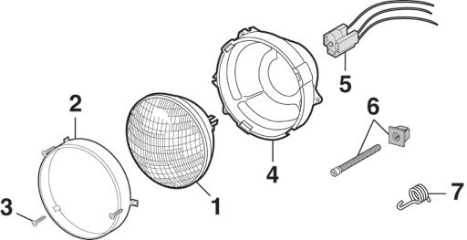 Single Headlight - Round