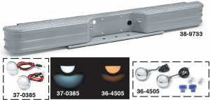 Diamond Tread Fleetside Replacement Rear Bumper … 8,000 Pound Trailer Weight Capacity