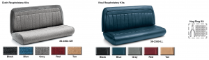 Cloth and Vinyl Bench Seat Reupholstery Kits