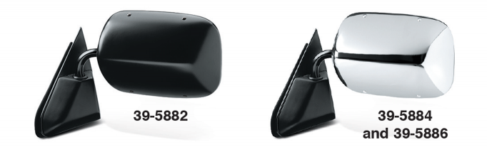GM Style Reproduction Manual Door Mirrors