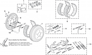 Rear Drum Brake Components