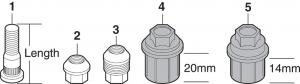 Wheel Studs and Lug Nuts