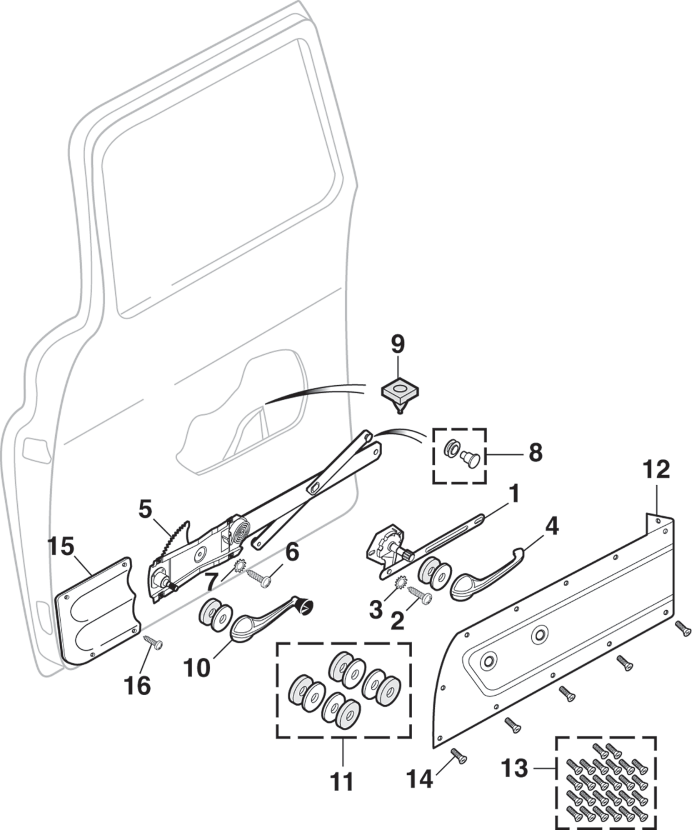 Door Regulator and Components