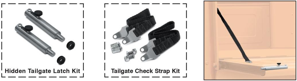 Stepside Hidden Tailgate Latch Kit and Check Strap Kit