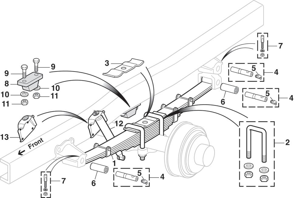 Rear Suspension - 3/4 Ton