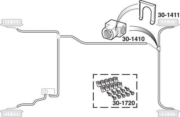 Pre-Bent Stainless Brake Line Kits