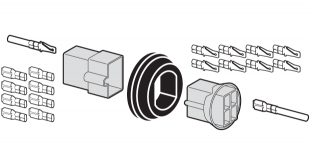 Wire Pass-Thru Connector and Grommet