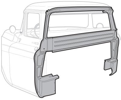 1955-59 Inner Cab Back Panel-Large