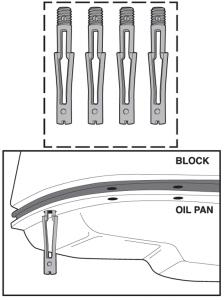 Oil Pan Snap-Ups