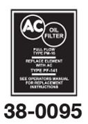 Oil Filter Decals