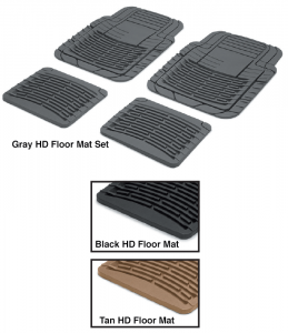 Heavy-Duty Rubber Floor Mat Sets