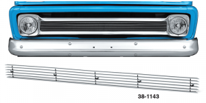 Billet Grille Overlay for Chevrolet