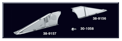 Chrome Upper Radiator Support Brace