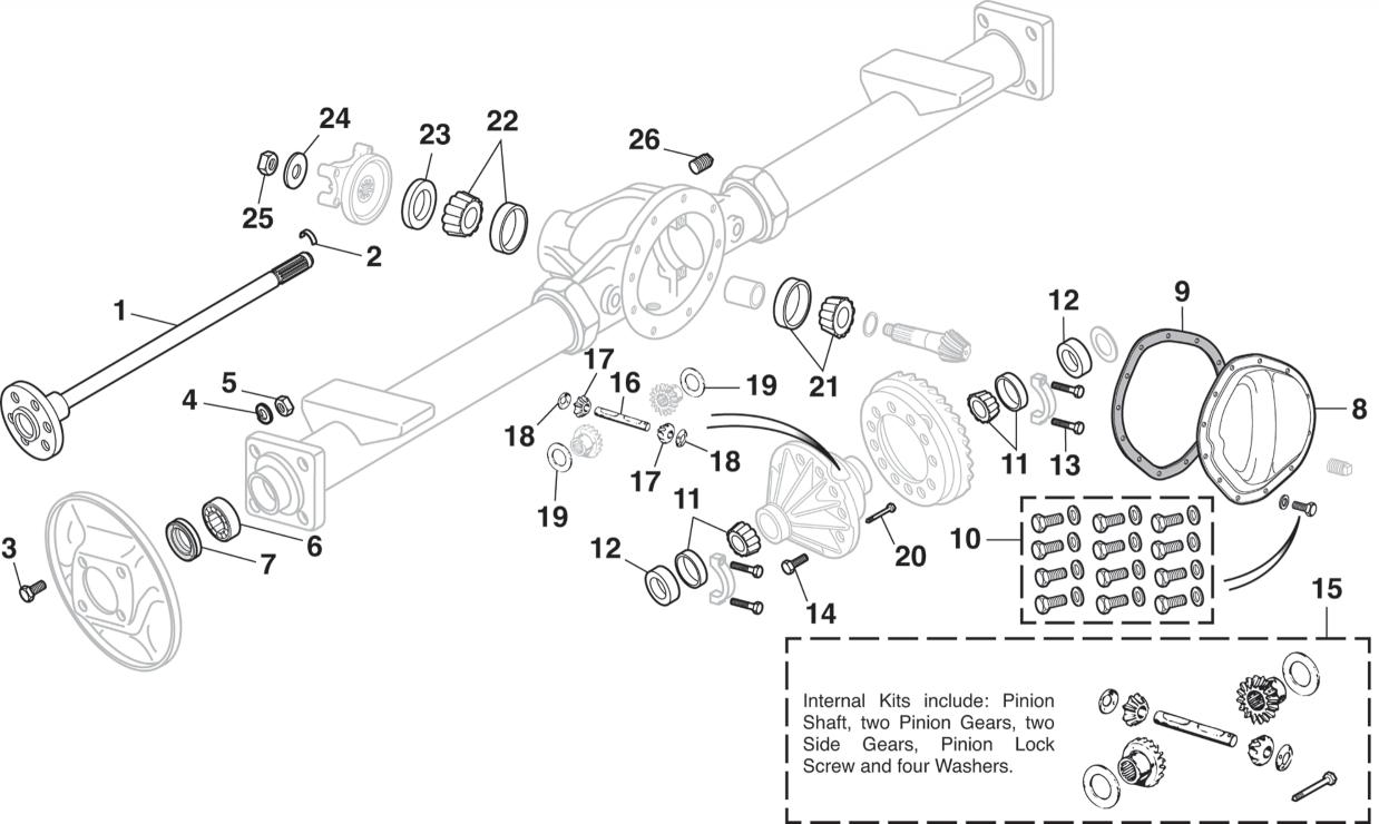 Rear Differential - 1/2 TonLMC Truck