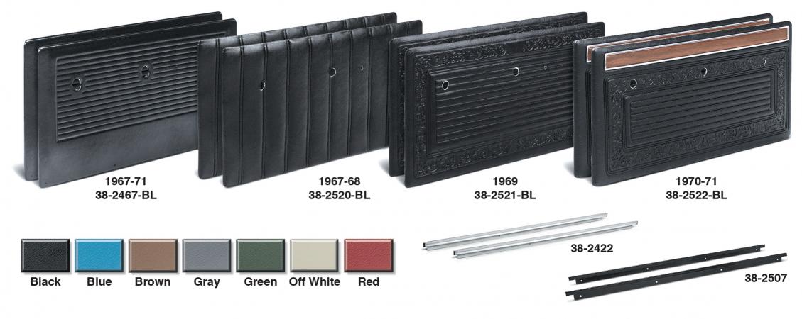 1967-71 Plastic Front Door Panel Set