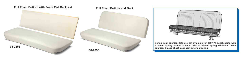 Bench Seat Cushion Sets