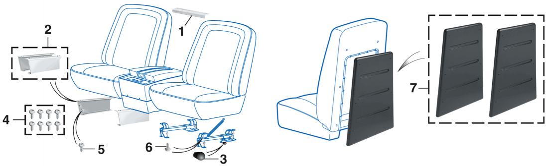 Bucket Seat Components