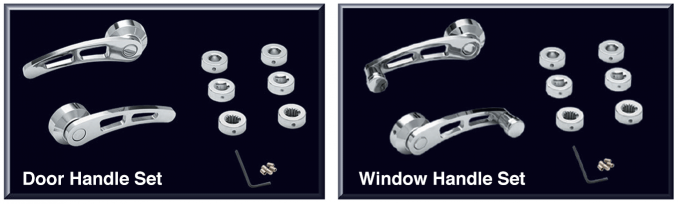 Chrome Door and Window Handle Sets