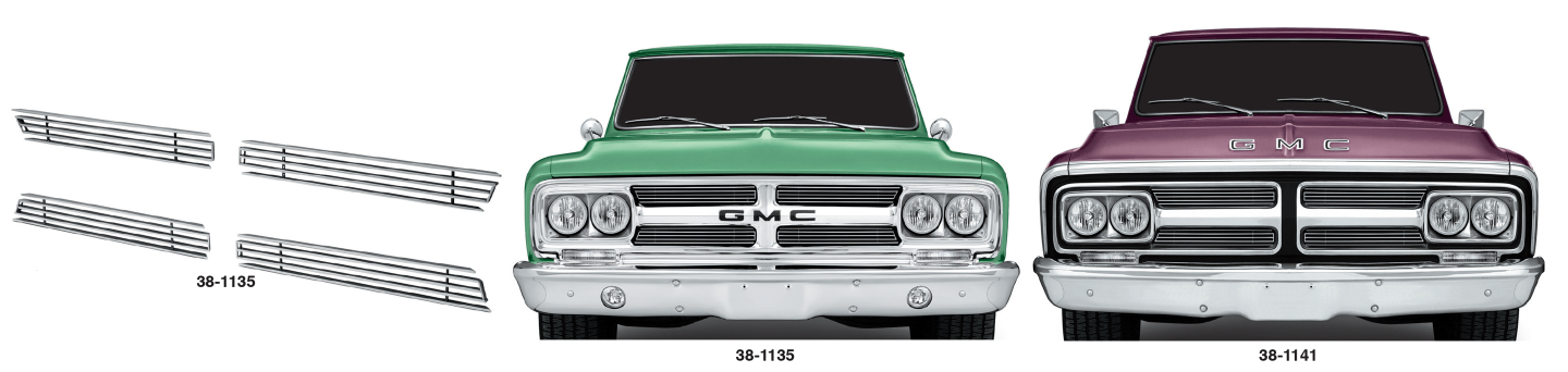1967-72 4MM Billet Grille Sets for GMC