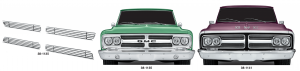 1967-72 4MM Billet Grille Sets for GMC
