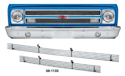 1967-68 4MM Billet Grille Set for Chevrolet