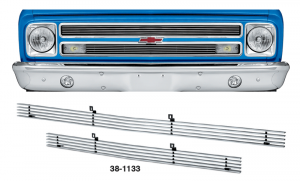 1967-68 4MM Billet Grille Set for Chevrolet