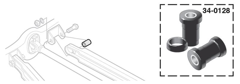 Polyurethane Rear Control Arm Bushings