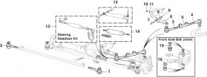Steering Controls - 4 Wheel Drive