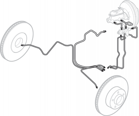 Pre-Bent Front Brake Line Set
