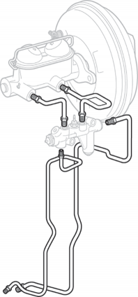 Pre-Bent Master Cylinder Brake Line Set