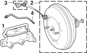 Brake Master Cylinder and Brake Booster