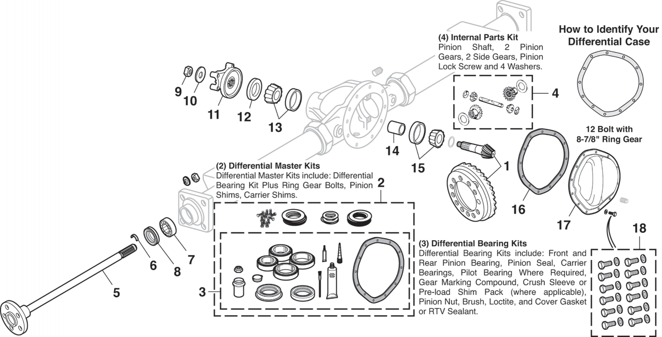 Rear Differential - 12 Bolt with 8-7/8