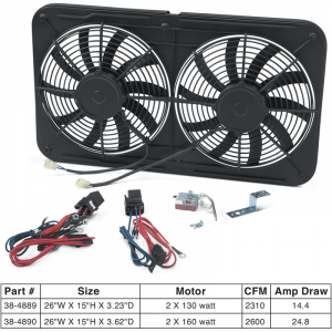 Dual Electric Cooling Fan Assembly