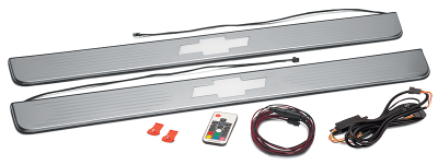 1967-72 Threshold Plate Set with Multi-Colored LED Bowtie