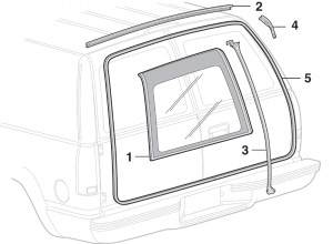 Cargo Door Glass and Rubber Components