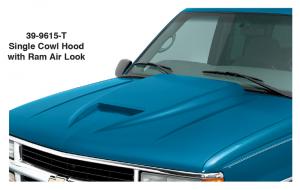 Single Cowl Hood with Ram Air Look