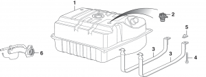 Gas Tank and Components - 2 Door Models