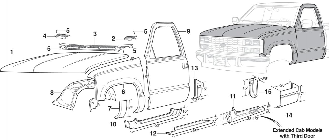 Lower Rear Repair Panels