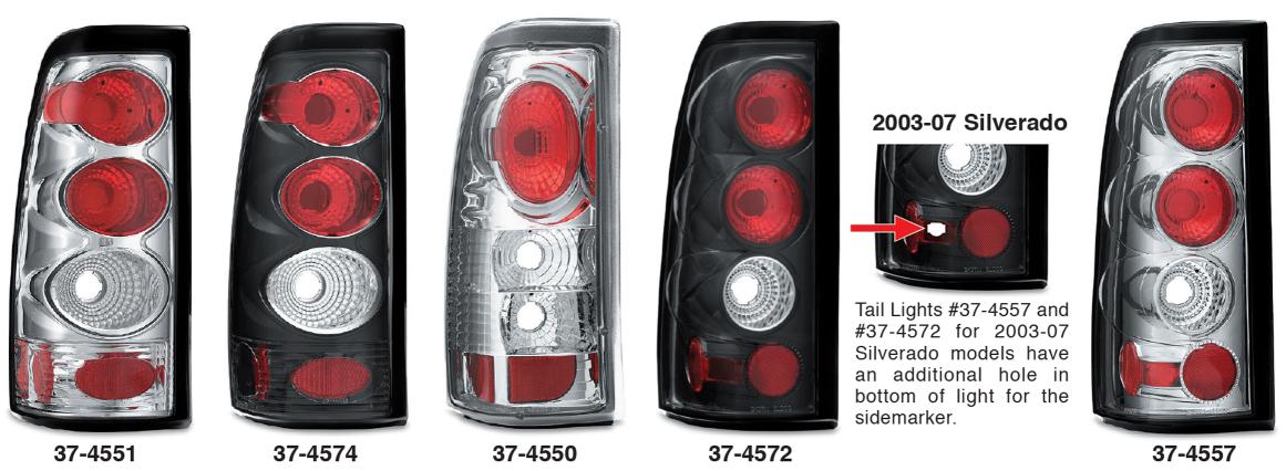 Fleetside Custom Tail Light Sets