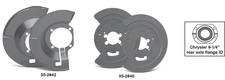 Disc Brake Shield Set