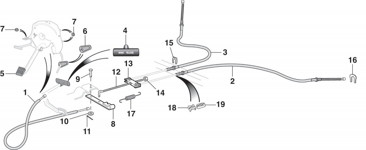 Parking Brake Cables and Components