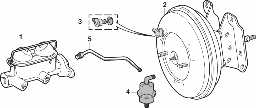 1973-89 Brake Master Cylinder and Components