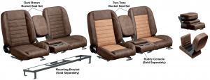 LMC Signature Series Front Bucket Seat Sets & Buddy Console