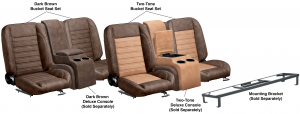 LMC Signature Series Front Bucket Seat Sets & Center Console