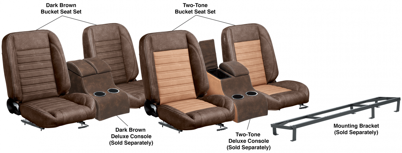 LMC Signature Series Front Bucket Seat Sets & Center Console