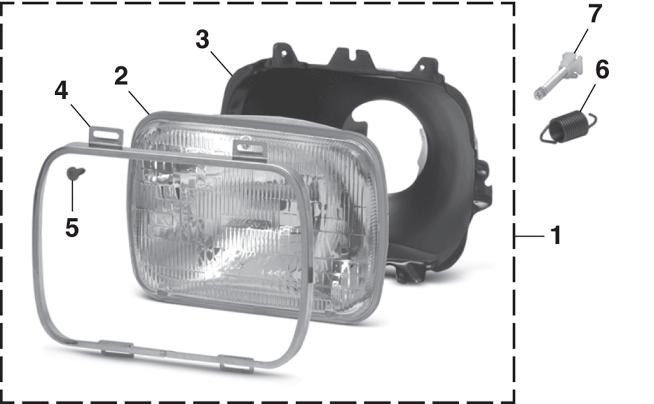 Headlight - Models with Single or Sealed Beam Headlights
