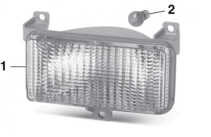 Parklight - Models with Single Headlights