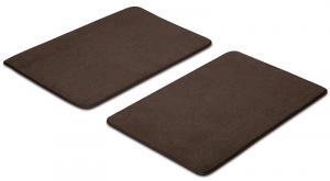 Dark Brown Front Floor Mat Set