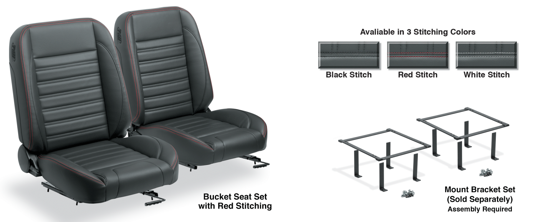 Pro Classic Sport Front Bucket Seat Set