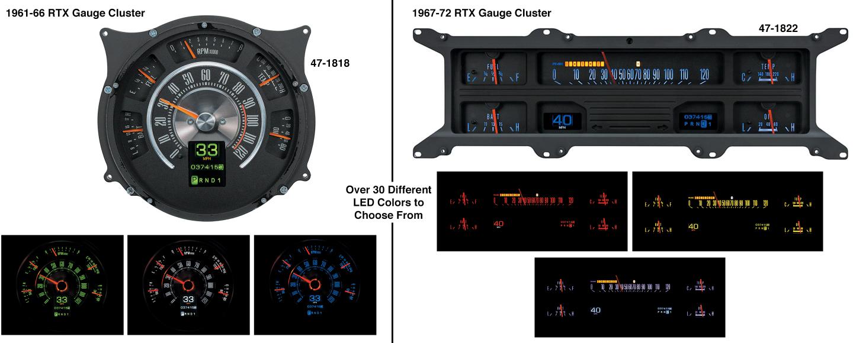 Dakota Digital RTX Gauge Clusters
